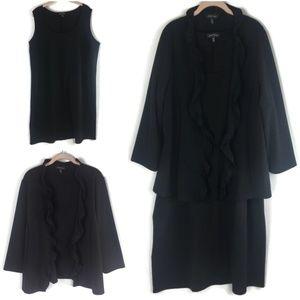 Slinky Brand Sleeveless Dress & Jacket Sz 2X Plus